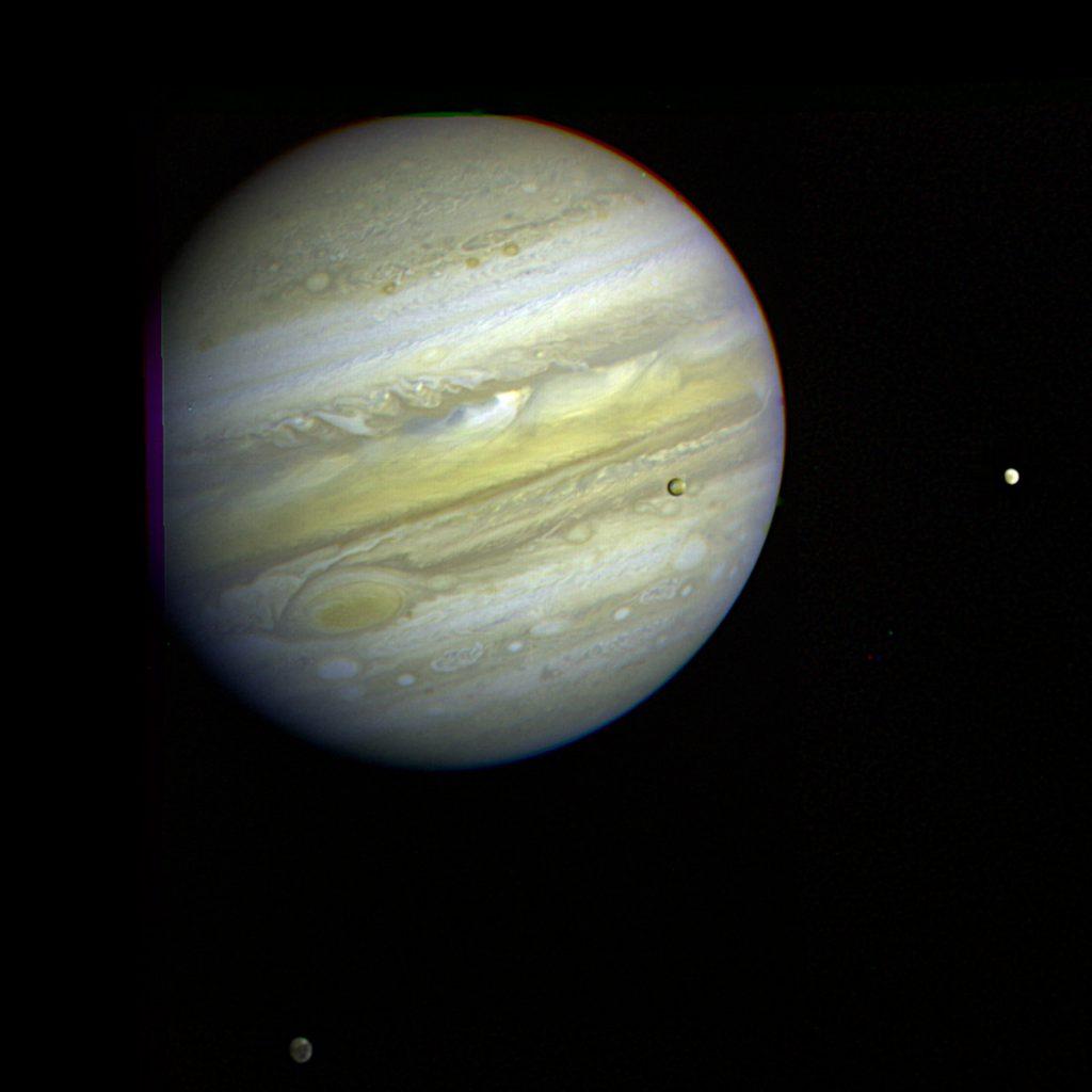 木星とイオ、エウロパ、ガニメデ