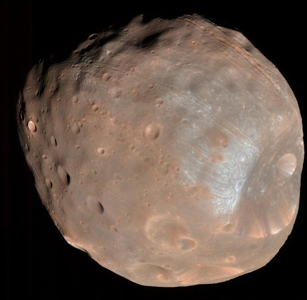 火星の衛星フォボス。Image Credit: NASA/JPL-Caltech/University of Arizona