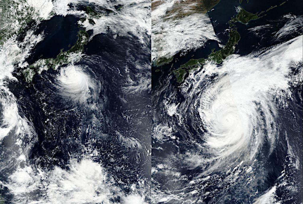 台風19号と台風15…