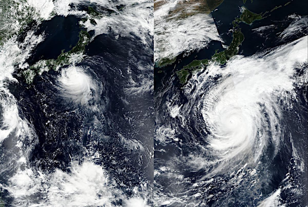 台風19号と台風15号との大きさ比較 \u2013 アストロピクス