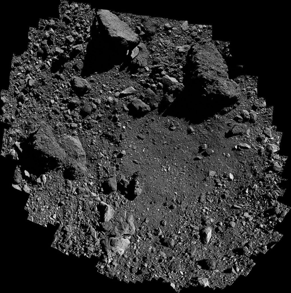 オシリス・レックスのサンプル採取サイト「Nightingale(ナイチンゲール。「サヨナキドリ」の意)」付近。Image Credit: NASA/Goddard/University of Arizona