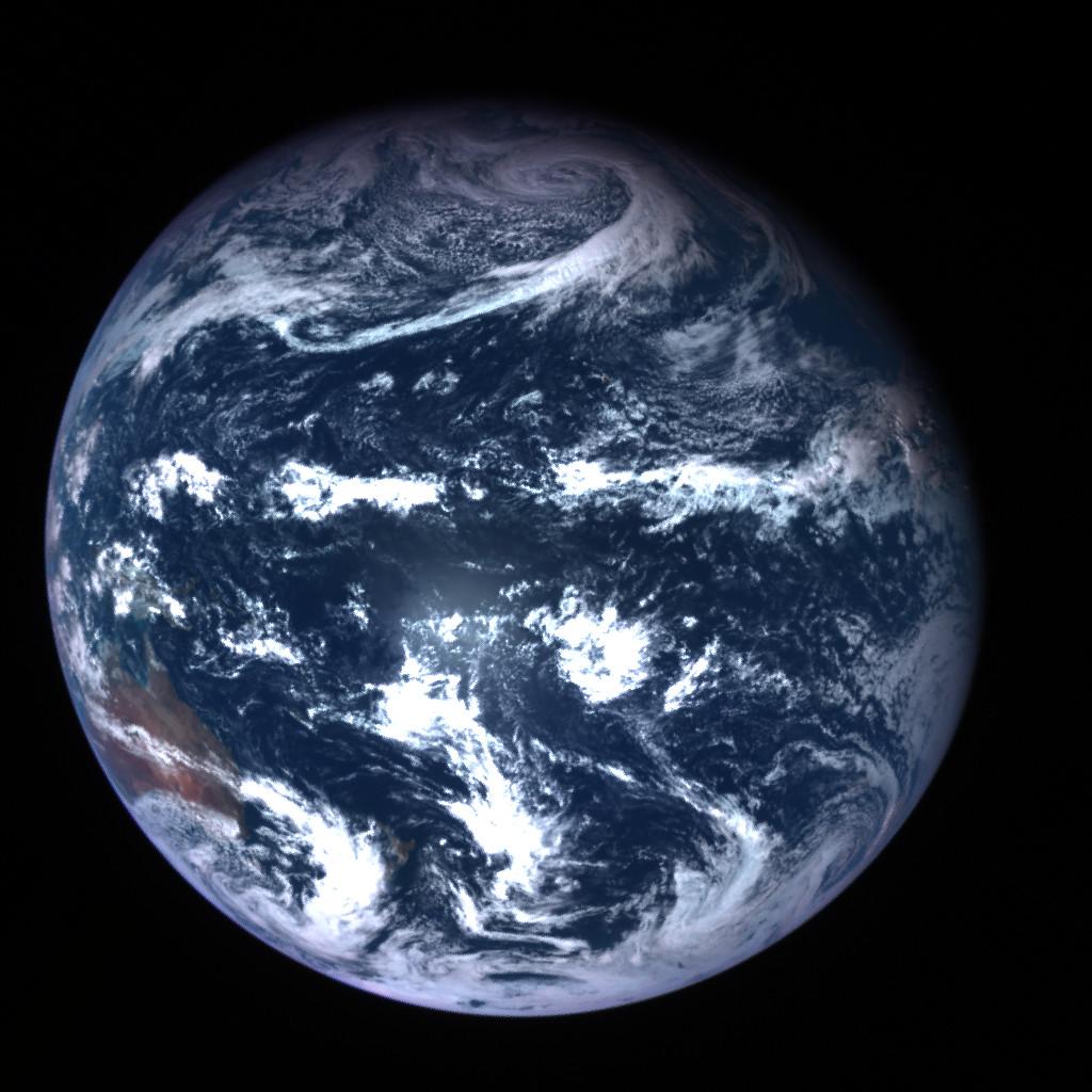 はやぶさ2が帰還時に撮影した地球。Image Credit: JAXA