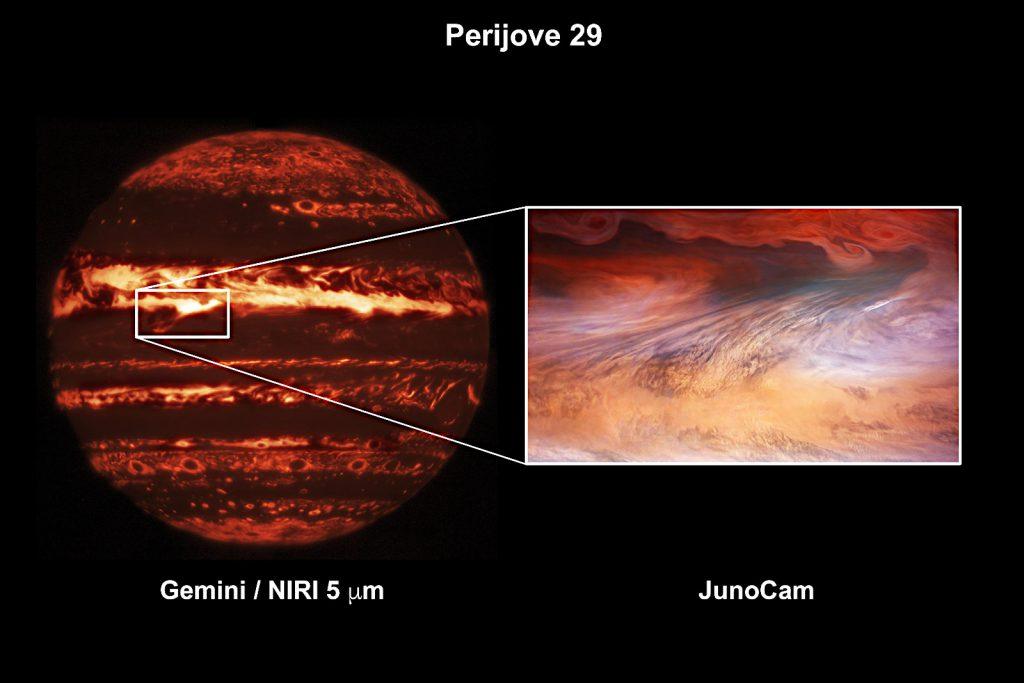 Image Credit: Gemini Image: International Gemini Observatory/NOIRLab/NSF/AURA M.H. Wong (UC Berkeley)、JunoCam image: ENASA/JPL-Caltech/SwRI/MSSS/Brian Swift © CC BY / Tom Momary © CC BY
