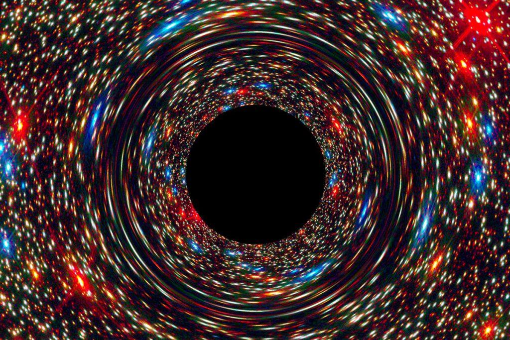 銀河中心にある超大質量ブラックホールのシミュレーション画像