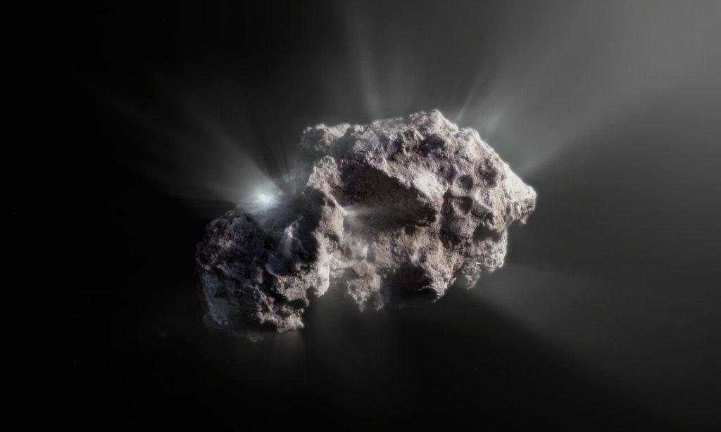 ボリソフ彗星の想像図。Credit: ESO/M. Kormesser