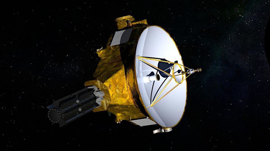 ニュー・ホライズンズ探査機の想像図。Credits: NASA/JHUAPL/SwRI