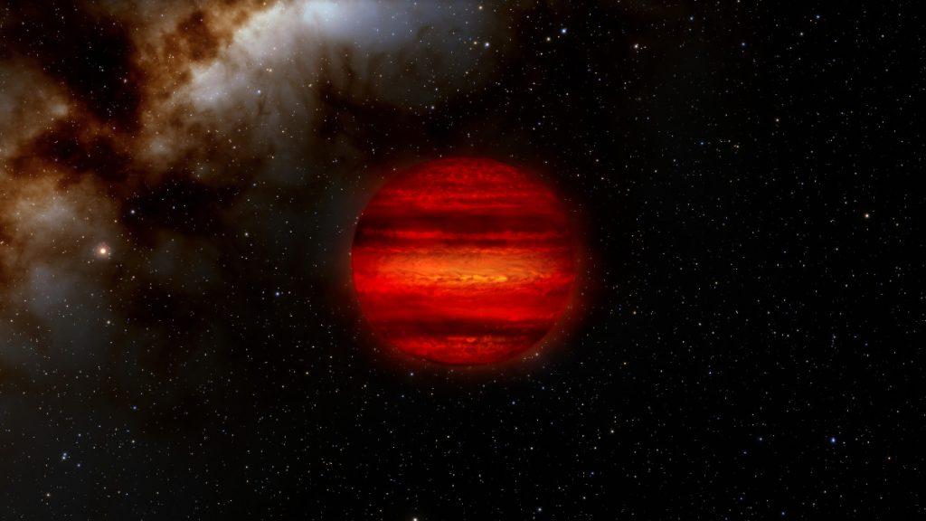 褐色矮星の想像図
