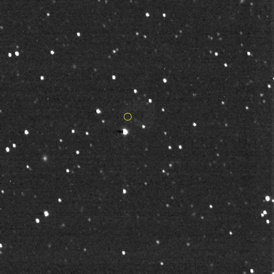 ニュー・ホライズンズ探査機が、ボイジャー1号のいる方向を撮影した画像。Credits: NASA/Johns Hopkins APL/Southwest Research Institute