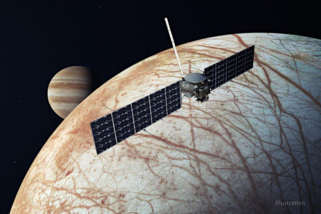 エウロパ・クリッパーの想像図。Credit: NASA/JPL-Caltech