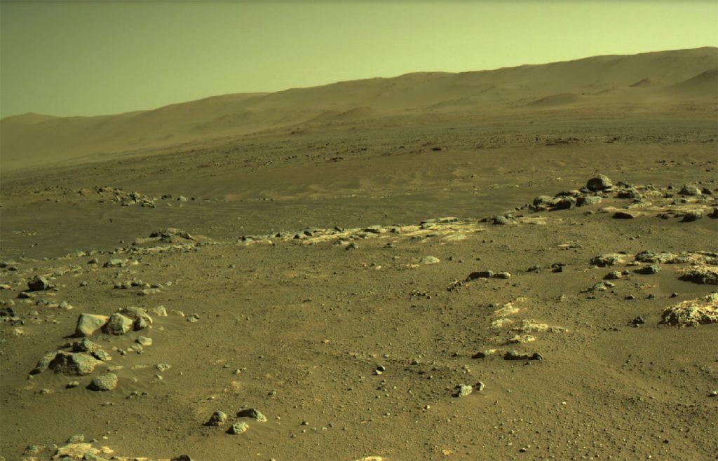 NASAの火星探査車「パーサヴィアランス」が撮影したSéítah地域。