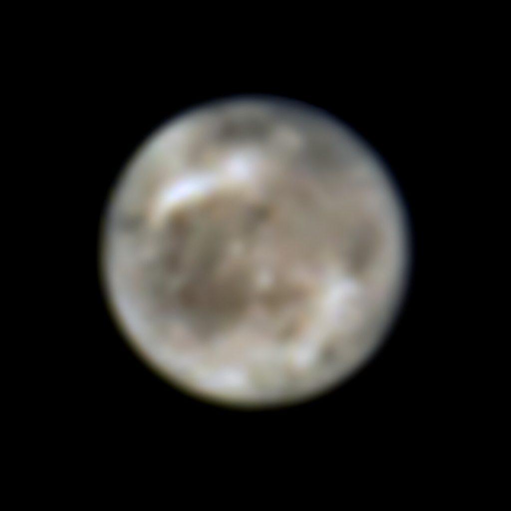 ハッブル宇宙望遠鏡が1996年に撮影した、木星の衛星ガニメデ。Credit: ESA/Hubble, NASA, J. Spencer