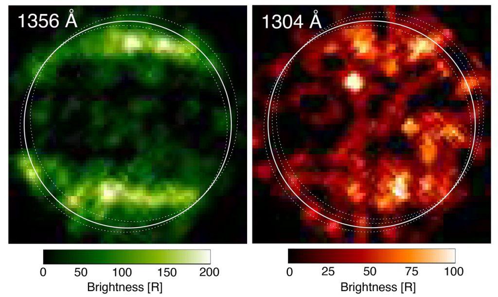 ハッブル宇宙望遠鏡による1998年の紫外線観測の結果。Credit: NASA/ESA/L.Roth