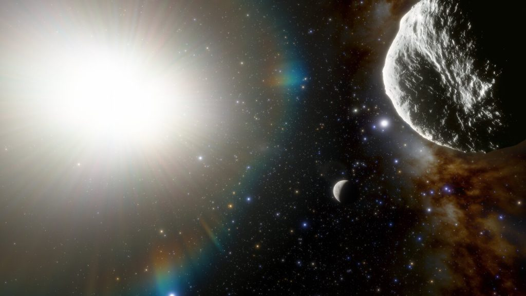 2021 PH27の想像図。水星も描かれています。Credit: CTIO/NOIRLab/NSF/AURA/J. da Silva (Spaceengine)