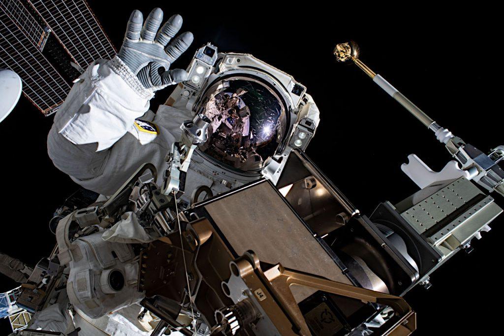ペスケ飛行士。星出飛行士が撮影した写真です。